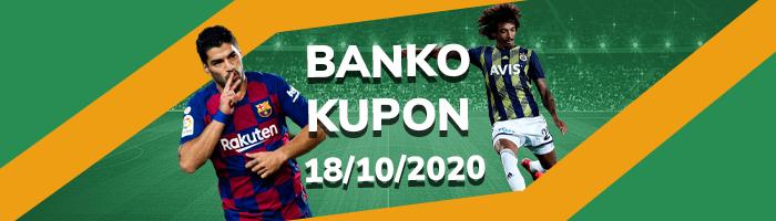 18 Ekim Banko İddaa Kuponu