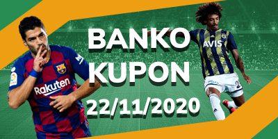 22 Kasım Banko Kupon