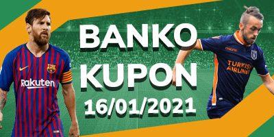 Banko kupon 16 Ocak
