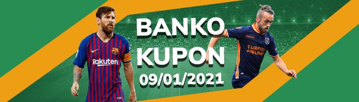 Banko Kupon 9 Ocak İddaa Tahminleri