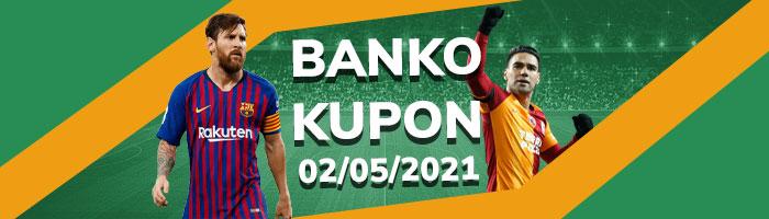 Banko İddaa Kuponları 2 Mayıs