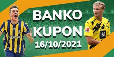 Banko İddaa Kuponu 16 Ekim