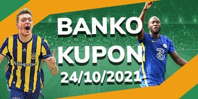 Banko Kupon İddaa Tahminleri 24 Ekim